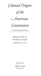 colonial origins of the american constitution a documentary  0013 tp