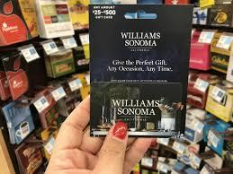 1 williams sonoma pottery barn or crate barrel gift card 100 00 regular
