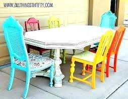 Colorful Dining Room Tables Simple Decorating Ideas