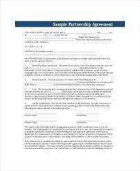 Sample Partnership Agreement Form 11 Business Partnership Agreement Templates Word Pdf