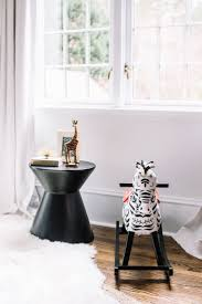 Emily Maynard chose our Grace Linen in Glacier for her black and white  nursery, and