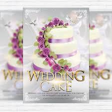 Wedding Flyer Template 3 670500 Wedding Design Wedding Cake Flyer ...