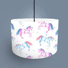 Unicorn Lampshade White Bouf