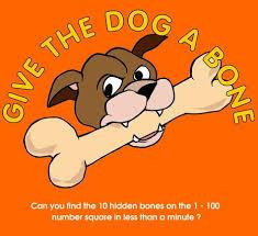 Give The Dog A Bone Hundreds Chart Game Math Websites