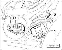 volkswagen workshop manuals > golf mk4 > power unit > motronic check wiring between test box and 4 pin connector for open circuit according to current flow diagram contact 1 socket 71 contact 3 socket 78