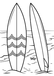 Small Picture Surfboards on Beach coloring page Free Printable Coloring Pages