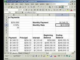 Sample Schedules Loan Amortization Schedule Excel Delectable How To Make A Fixed Rate LoanMortgage Calculator In Excel YouTube