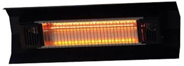fire sense 1 500 watt black wall mounted infrared electric patio heater 1 of 2only 1 available