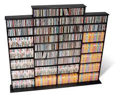 quad width wall storage black cds furniture