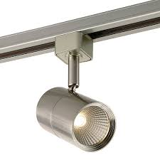 track lighting led project source light dimmable brushed nickel flat back linear track lighting head track