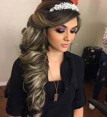 Hairstyles For A Quinceanera Long Hair Hairstyles Quinceanera Hairstyles And Makeup Quince Girl