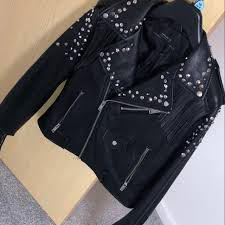 carlybrown 14 days ago glasgow united kingdom zara fringe studded black leather jacket