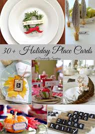 Holiday Placecards Holiday Place Cards For Both Thanksgiving And Christmas