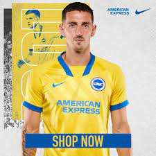 Brighton and Hove Albion Football Club, Football Club Compete in The  English Premier League, 🏴England🏴 Away and  Goalkeeper Jersey For The 2020-21 Season Made By NIKE ไบรท์ตัน แอนด์ โฮฟ  อัลเบี้ยน ฟุตบอล คลับ