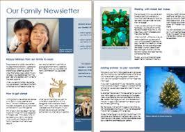 family newsletter 15 editable newsletter templates for ms word document hub