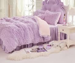 princess fluffy bedding set faux fur