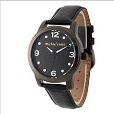 personalized watches for jewelry watches jcpenney personalized mens black alloy leather strap watch
