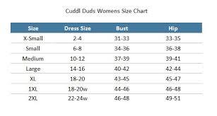 78 Rigorous Cuddl Duds Size Chart