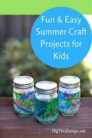 simple summer crafts for kids diy mason jar aquarium
