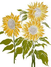 Sunflower Stencil Designs Sunflower Design By Henny Donovan Sunflower Stencil