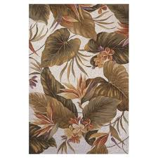 kas rugs bird of paradise ivory 4 ft x 6 ft area rug