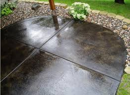 stained concrete patio gray. Stylish Concrete Patio Stain Design. Go With A Nice Earth Tone Color For Rich Look The High End Stained Gray