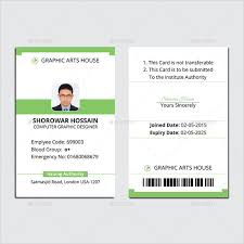 19 Id Card Templates For Badges Word Excel Samples