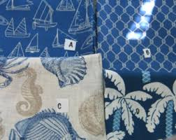 Small Picture Coastal Home Decor Fabric Blue Nautical Pillow Covers Outdoor