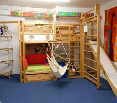 kids loft bed with slide. Cool Kids Rooms Furniture Slide Ladder Wooden Stairs Loft Bed For The Modern With