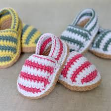 Crochet Baby Shoes Pattern Classy CROCHET PATTERN Stripy Espadrille Baby From Matildasmeadow On