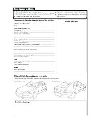 Company Vehicle Accident Report Form Template Free Car Accident