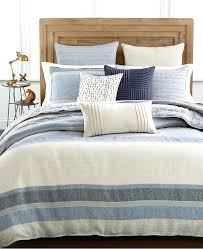 hotel collection linen stripe king duvet cover created for bedding macys covers queen