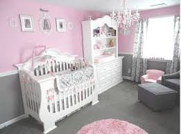 Pretty Baby Girl's Pink and Gray Princess Nursery Room with gray, white and  pink damask crib bedding set. | Baby Girl Nurseries | Pinterest | Princess  ...