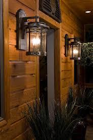 rustic outdoor lighting spaces rustic with bronze outdoor lighting cabin