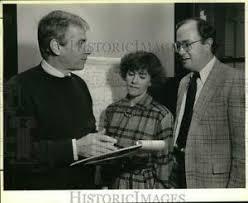 Press Photo Bob Orr, Sandy Morrison and Bob Sohn at Meeting ...
