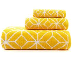 Trina Turk Yellow Trellis Bath Towels