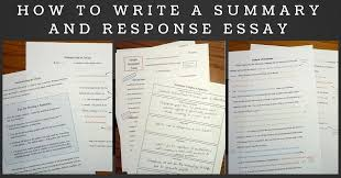 Summary Response Essay Responding to Reading  Reading Critically