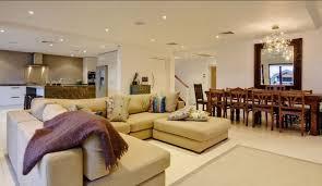 Open Floor Plan Living Room Furniture Arrangement Kitchen Living Room Open Floor Plan Dark Wood Dining Table