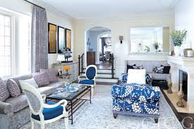 Living room designed with Michelle S. Smith fabric, J.D. Staron rug and  Highland Court. Interior designer Lee Ann ...