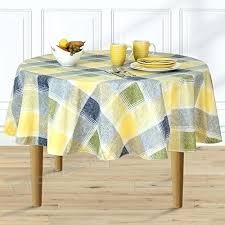 70 inch round vinyl tablecloth harmony plaid flannel backed indoor outdoor vinyl table linens inch round