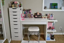 my vanity and makeup storage ikea alex 9 and micke desk with integrated storage