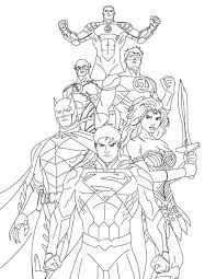 Small Picture How to Draw Justice League Coloring Page NetArt