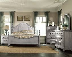 King Bedroom Tressa King Bed Weathered Grey Leons