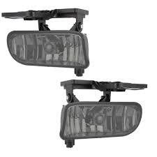 2001 Gmc Yukon Fog Lights Details About Smoked For 99 06 Gmc Sierra Yukon Bumper Fog Lights Lamps Replacement Left Right