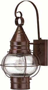 hinkley 2200sz cape cod 1 light 18 inch outdoor nautical wall sconce in sienna bronze loading zoom