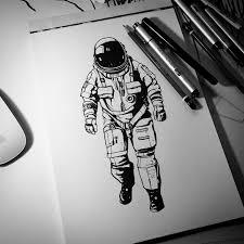 The Astronaut космос эскиз тату картины и тату