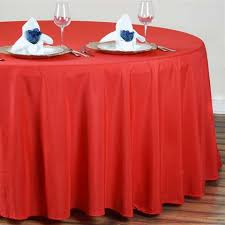 4 round tablecloth red al