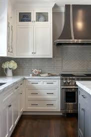 grey subway tile backsplash grey subway tiles herringbone tile and kitchen white kitchen cabinets with grey