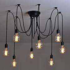 diy home lighting. Modern Nordic Retro Edison Bulb Light Chandelier Vintage Loft Antique Adjustable DIY E27 Art Spider Pendant Diy Home Lighting