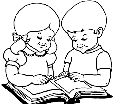 28 collection of a child reading a book drawing